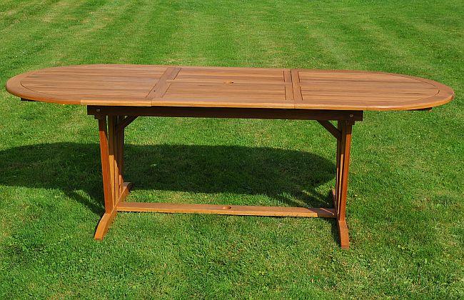 Garten Sitzgruppe Holz Massiv Summer Oval Gartenset Tisch Stuhle