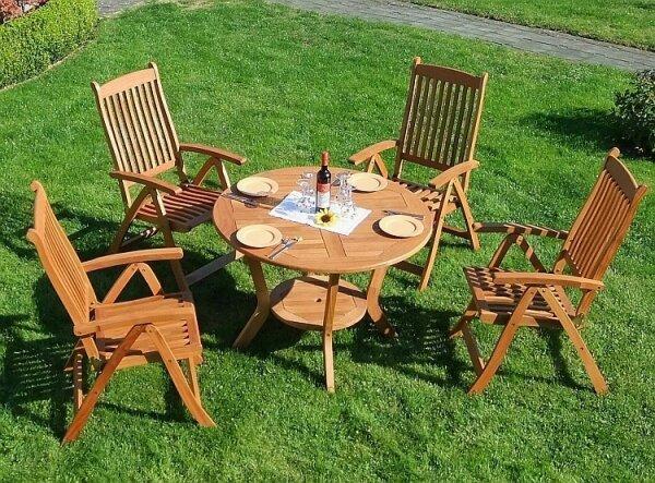 Gartentisch rund 100 cm aus Eukalyptus-Holz