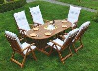 """Sitzgruppe """"Summer"""" mit ovalem Ausziehtisch"""